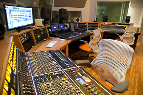 Frost School of Music's Weeks Recording Studio