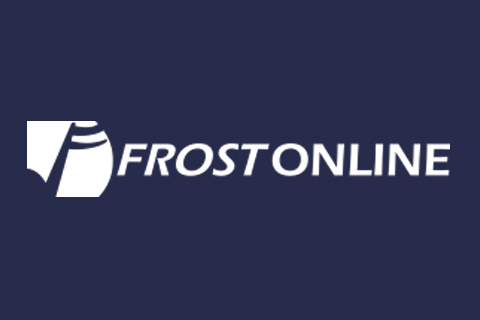 A logo for the Frost Online program